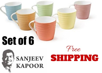 Price Down:- Sanjeev Kapoor's Diva Coffee Mugs Set of 6 at Just Rs.249 + Free Shipping low price