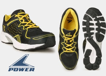 STEAL DEAL : Power Men Black & Yellow Lifestyle Shoes at Rs. 600 + Rs. 100 Off On Sign Up low price