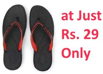 65a9339f9562f Nexa Women s Black Flip Flops at Just Rs. 29 Only at FreeKaaMaal.com