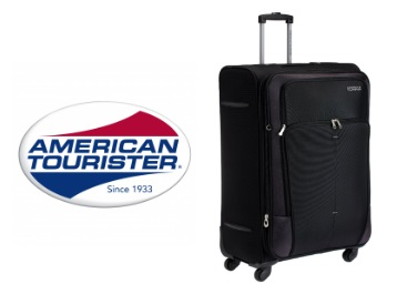 American Tourister Crete Black Softsided 77 Cms Suitcase at Rs. 4848 + FREE Shipping low price