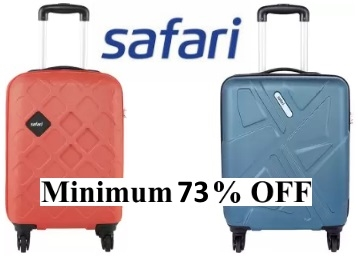 STEAL Stock:- SAFARI Suitcases at Minimum 65% OFF, starts at Rs. 2141 + Free Shipping low price