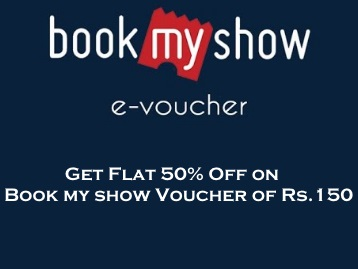 Flat 50% Off on Bookmyshow voucher of Rs.150 – Magicpin App discount deal