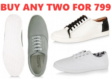 Buy Any 2 Koovs Footwear at Just Rs. 799 + FREE SHIPPING low price
