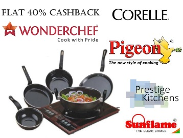{Selling Fast} Flat 40% Cashback on Branded Kitchenware low price