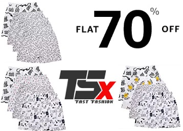 Bumper Deal:- TSX Boxer Pack of 4 at FLAT 70% OFF + Free Shipping low price