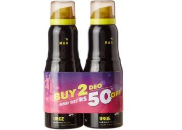 Bumper Deal:- Engage Urge, (Pack of 2) at Just Rs. 146 [MRP Rs. 348] discount deal