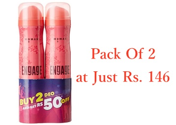 STEAL DEAL : Engage Blush, 150ml (Pack of 2) at Just Rs. 146 discount deal