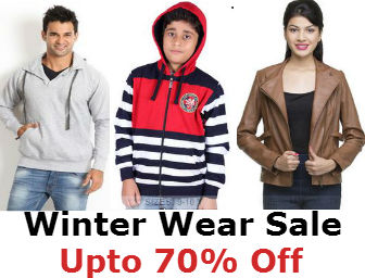 Flipkart Winter Wear Sale : Upto 70% Off on Winter Products + Free Shipping