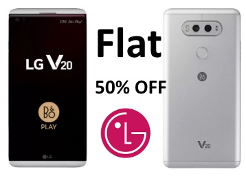 Lowest Online : Flat 50% OFF On LG V20 at just Rs.29799 + FREE Shipping discount deal