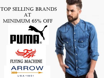 Top Selling Brands : Minimum 65% Off on Men's Clothing + Free Shipping low price