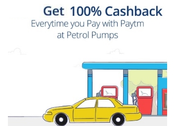 Live Paytm LOOT : Get 100% Cashback Up To Rs. 100 at Petrol Pumps