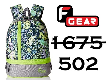 Steal Price : F Gear Burner 25L Backpack at Rs.502 + Free Shipping low price