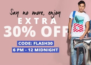 6 Hours Flash:- Upto 80% OFF + Extra 30% off on All Products + Free Shipping discount offer