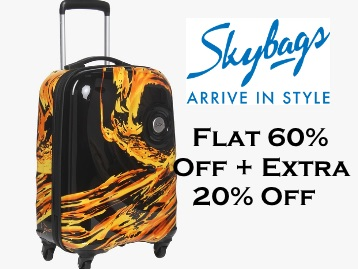Steal : Skybags 55 Cm Blaze 4 WheeLuggage trolley at Rs.2848 low price