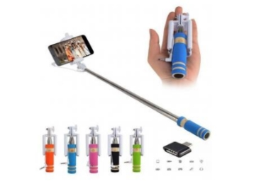 STEAL PRICE : Combo of Selfie Stick + Otg Adapter at Just Rs. 50