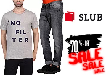 Steal Fast :- SLUB Clothing at Min 70% off, starts at Rs. 179 Onwards low price