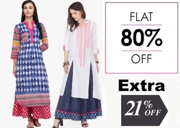 Bumper:- VARANGA Clothing at Flat 70% – 80% off + Extra 21% off + 10% Cashback low price