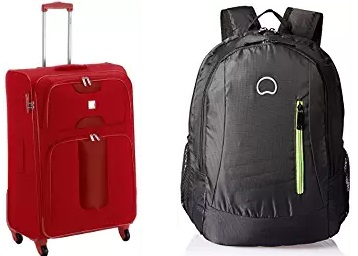 Delsey Bags at Minimum 50% Off From Rs. 829 + FREE SHIPPING low price