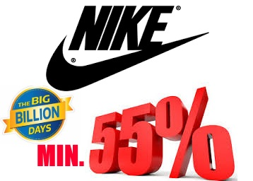 STEAL OFFER : Get NIKE Min.55% OFF From Just Rs. 358 + Extra 10 % Cashabck discount deal