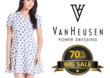 Steal Price : Flat 70% Off on Van Heusen Clothing & Accessories for Women discount deal