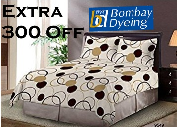 Bumper Price : Bombay Dyeing Cotton Bed Sheet Set of 3 at Just Rs.319 discount deal