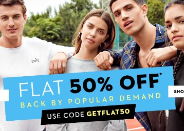 Steal:- Flat 50% off on All Lifestyle Range [Working on Discounted Products] low price