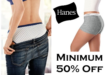 Steal : Minimum 50% Off on Hanes Women's Innerwear From Rs.104 low price