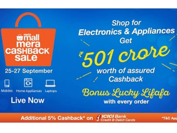 Cashback Electronic discount offer