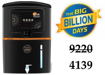 Protek Elite Plus with L.E.D Indicators 12 L RO Water Purifier at Just Rs. 4139 discount deal