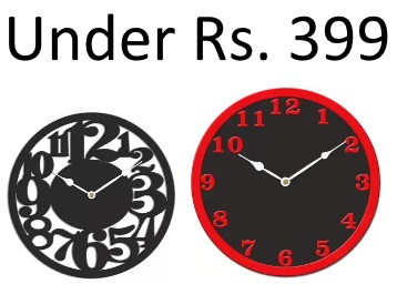 Steal:- Preminum Wall Clocks All Under Rs. 399 + 10% Cashback + Free Shipping discount deal