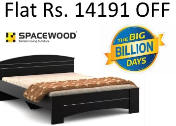 Cracking:- Spacewood Engineered Queen Bed at Rs. 8999 + Extra 10% off