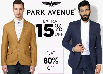 Bumper Deal:- Park Avenue Blazers at Flat 80% off + Extra 15% off + Free Shipping discount deal