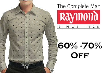 Steal Deal : Minimum 60% Off on Raymonds Clothing for Men low price
