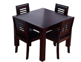 Price Error Loot : Ringabell Square Four Seater Solid Wood Dining Table at Just Rs.10 low price