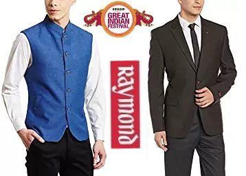 Flat 70% Off on Raymond Men's Suits & Blazers + FREE SHIPPING discount deal