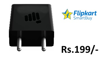 Deal Alert : Get Micromax Mobile Charger at just Rs.199 + FREE Shipping discount deal