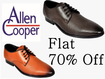 Steal : Flat 70% Off on Allen Cooper Footwear(Limited Stock) discount offer