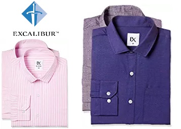 Lightning Deal : Excalibur Formal Shirts Flat Rs. 239 + FREE Shipping low price