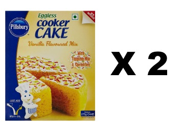 Just Rs. 99:- Pillsbury Eggless Cooker Cake Mix, Vanilla, 159g (Pack of 2) discount deal
