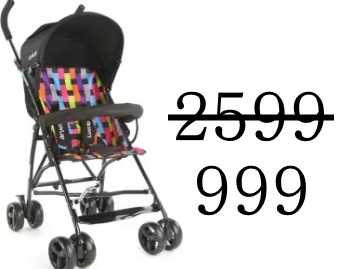 Steal Price : LuvLap Baby Buggy at Just Rs.999 + Extra 10% Cashback discount deal