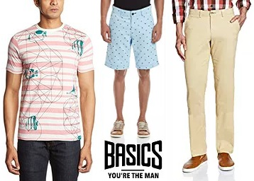 STEAL DEAL : Basics Men's Clothing 50% to 70% Off From Just Rs. 449 low price