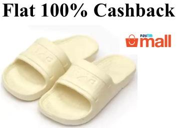 Nexa Men's Slippers & Flip Flops at Flat 100% Cashback (App Only) discount deal