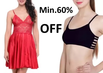 STEAL : Get Min.60% OFF On Women's Innerwear From Rs.54 + FREE Shipping