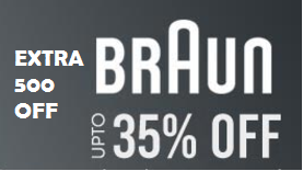 Amazing Deal:- Flat 500 off on all Braun Products [No minimum purchase]