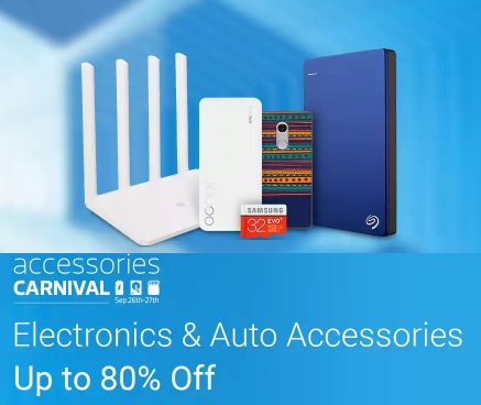 Accessories Carnival- Up to 80% Off on Electronics Accessories + More
