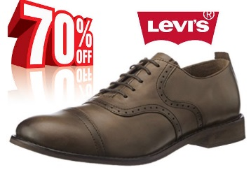 STEAL : Flat 70% OFF On Levis Men's Leather Boots at just Rs.1799 + FREE shipping discount deal