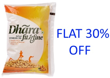 [Pantry Steal]:- Dhara Soyabean Oil Pouch, 1L at Just Rs. 83 low price
