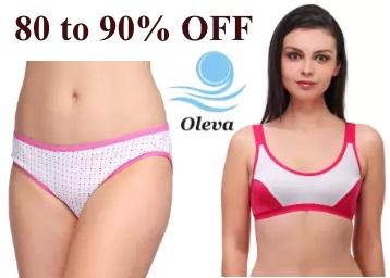 Oleva Women's Innerwear & Nightwear at Flat 80-90% Off From Rs. 97 low price