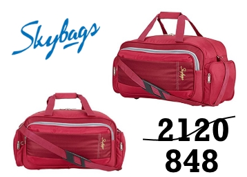 STEAL PRICE : Skybags Cardiff Polyester 55 cms Red Travel Duffle discount deal