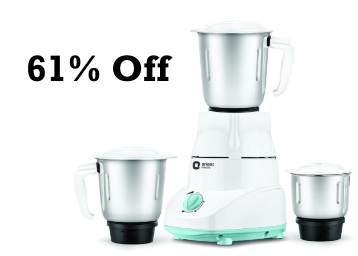 STEAL : Orient Electric Kitchen Kraft 500-Watt Mixer Grinder with 3 Jars at Rs. 1299 low price